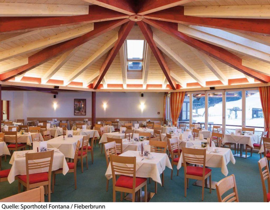 hotel fontana alleenstaanden skien